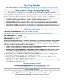 Chief Strategy Officer Resume Sample<br />All material is copyrighted by The Writing Guru.